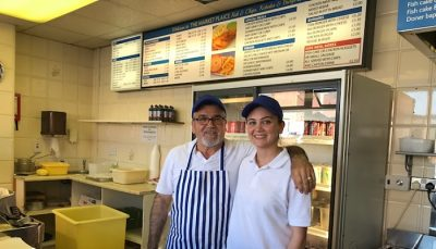 market plaice chippy, John and Dimitria Jordan.jpg