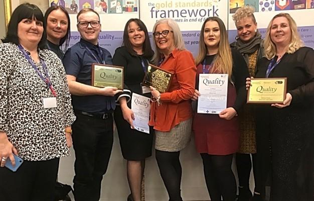 Belong Atherton, Wigan and Crewe teams at the Gold Standards Framework Awards Ceremony 2019