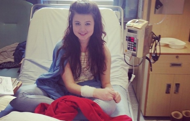 Eleanor in hospital bed