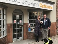 Jacksons Opticians in Nantwich raises £690 for charity guide dogs