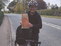 Nantwich Bookshop boss takes to the saddle to deliver essential reading