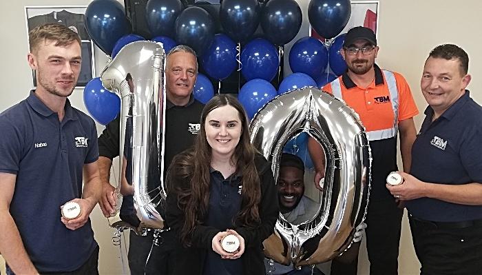 TBM staff, 10th Anniversary cakes & balloons (1)