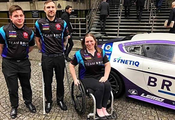 Team BRIT drivers supported by SYNETIQ Ltd