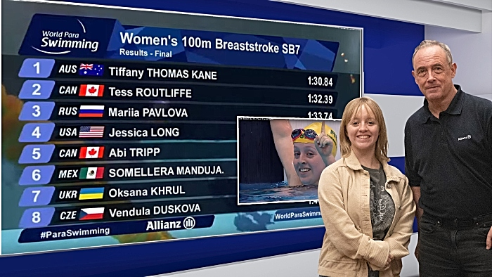 Paralympic swimmer Tiffany Kane visits SYNETIQ