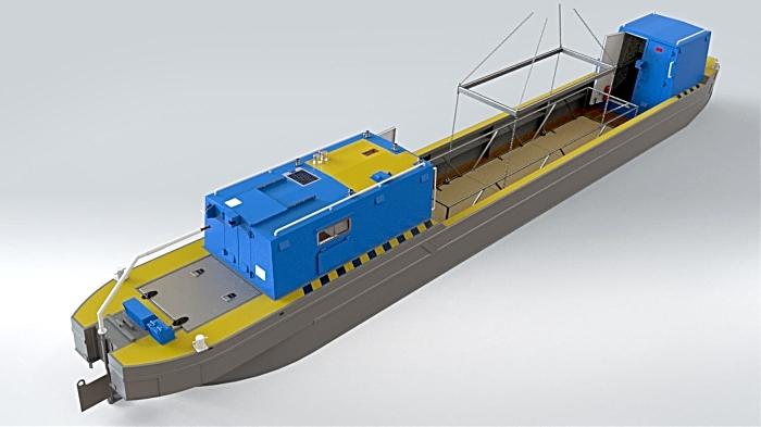 boat render project at aqueduct marina