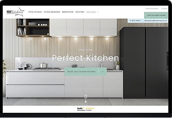 website design - KW Kitchens