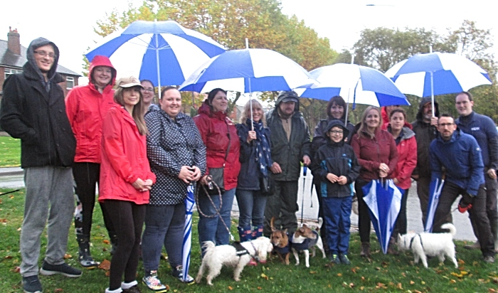 Caregivers, office staff, friends and family of Home Instead Senior Care Crewe during the Memory Walk for the Alzheimer's Socie (1)