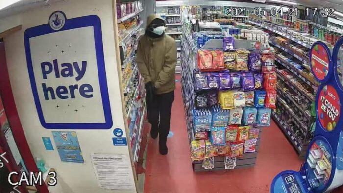 Tollemache Drive minimart CCTV appeal