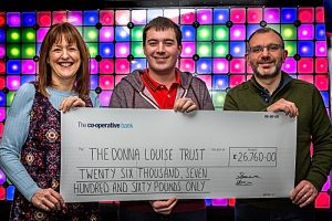 Donna Louise Hospice receives £26,760 cheque from Weston Lights fundraiser