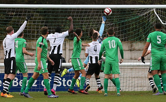 1st Coalville goal - Cleveland Taylor heads home after a scramble in the area