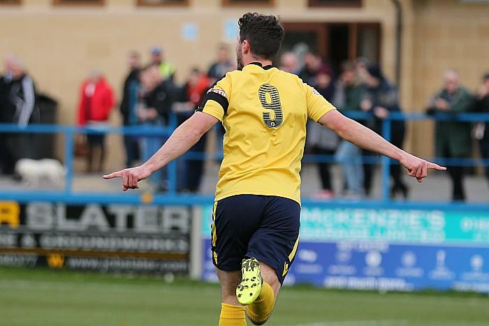 1st goal - Harry Clayton celebrates his goal