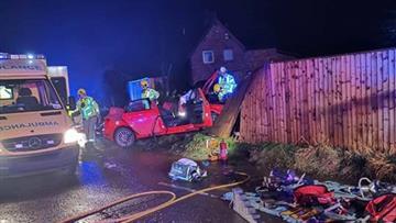 road collision in Faddiley