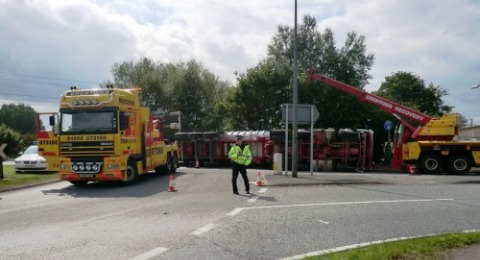 Reaseheath lorry smash sparks A500 chaos