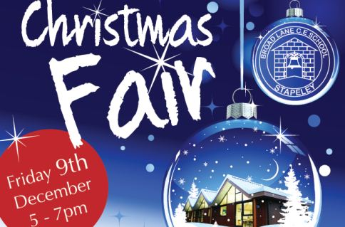 Santa to visit Stapeley Broad Lane School Christmas Fair
