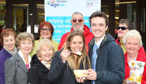 Elderly folk in Nantwich given free porridge by Mornflake