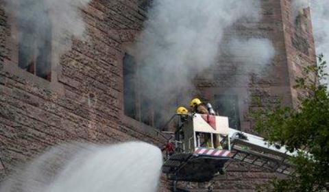 Peckforton Castle trio commended for bravery during fire