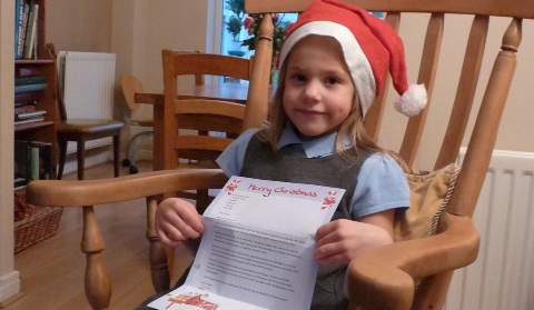 Nantwich schoolgirl's Santa surprise thanks to Railway Children charity