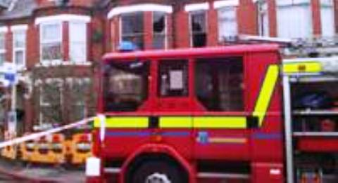 Fire crews tackle chimney blaze in Acton house