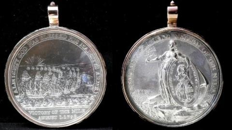 Historic medal of Nelson's Master sells for £10,000 at Nantwich auction