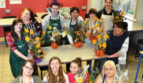 Reaseheath College students display their flower power