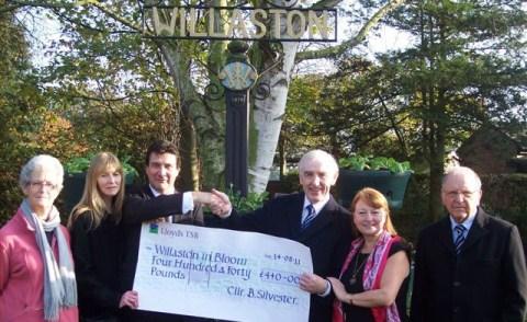 Willaston in Bloom team rewarded with £440 donation