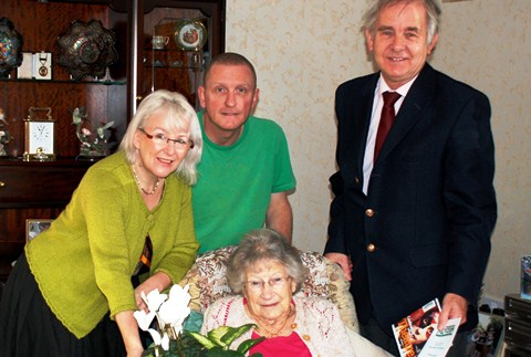 Crewe & Nantwich Labour Party celebrate member's 90th birthday