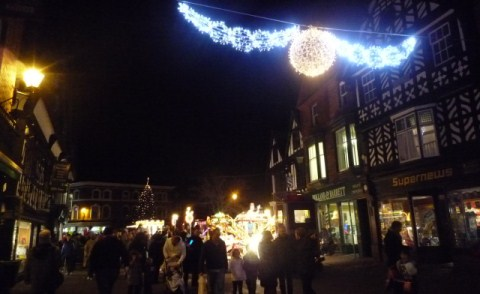 Hundreds enjoy Nantwich Christmas Lights switch on in town square