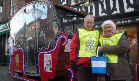 Rotary Club Christmas float to visit Nantwich streets and stores