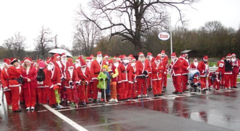 £14,000 raised for St Luke's Hospice at Oulton Park Santa Dash