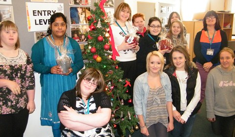 Crewe and Nantwich college students stage flower sale