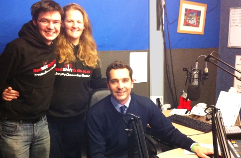 MP Edward Timpson visits South Cheshire's RedShift Radio