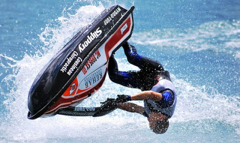Nantwich champion jetskier Ant Burgess injured in crash