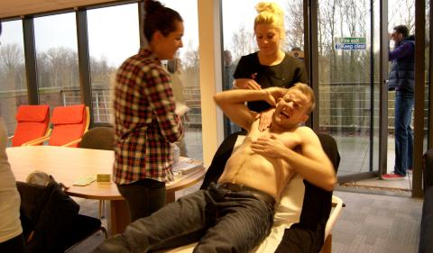 Nantwich cricketer's chest wax charity stunt for Leighton Hospital