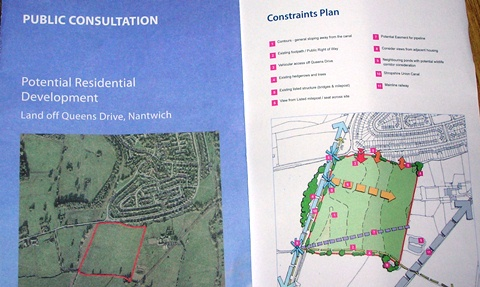 Residents unhappy over 270-homes plan for Queens Drive, Nantwich