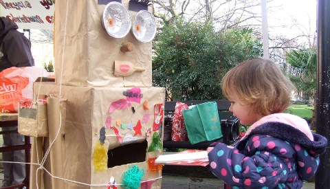 Robo-recycler proves a hit with Nantwich families