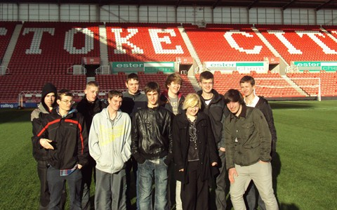 Reaseheath College students given Stoke City pitch tips