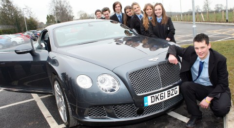 Brine Leas pupils enjoy Bentley treat in National Apprenticeship Week