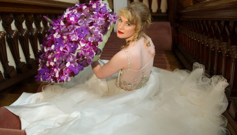 Reaseheath College student stars in bridal photoshoot