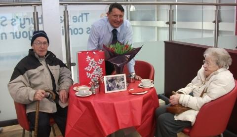 Baddiley couple celebrate 60th Valentine's Day with Sainsbury's