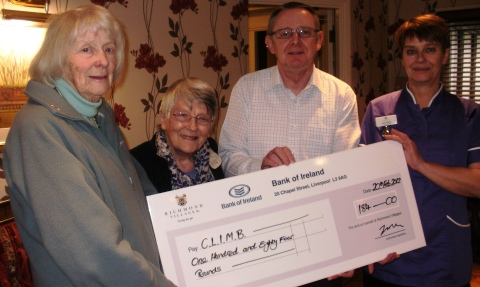 Richmond Village Nantwich raises £184 for charity CLIMB