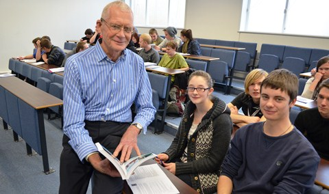 British explorer Colin Mortlake visits Reaseheath College students