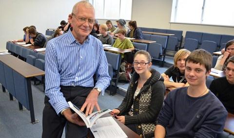 British explorer Colin Mortlake visits Reaseheath College students