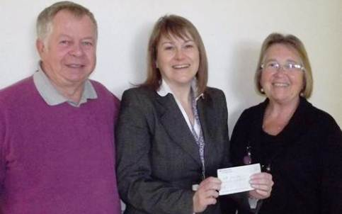 Fund-raising couple boost Leighton Hospital bowel cancer care