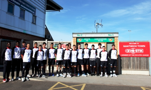Young England stars train at Nantwich Town's Weaver Stadium
