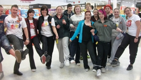 Nantwich Sainsbury's staff raise thousands for Sport Relief