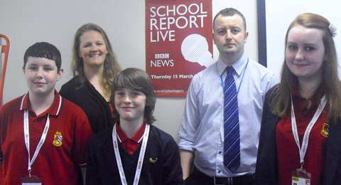 Malbank pupils in Nantwich enjoy BBC School Report day