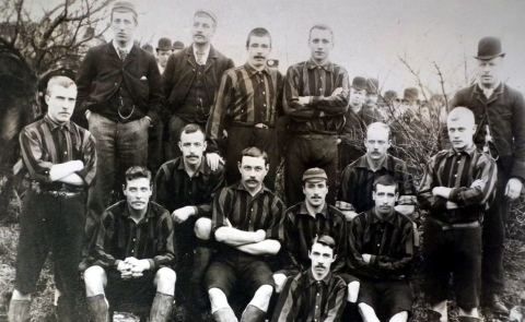 Clare and Stoke team c1892