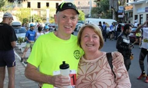 John Lawton, with wife Lynda, just before he went missing in Greece
