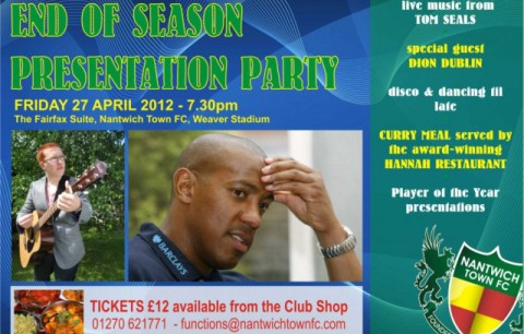 TV pundit Dion Dublin guest at Nantwich Town awards night
