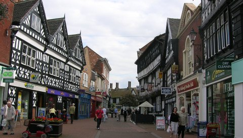 Nantwich High Street, town centre, set for facelift